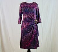 Shelby & Palmer Women's Purple Three Quarter Sleeve Dress Career - NWT - Size S
