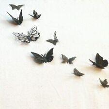 20 Schmetterlinge 3D Bronze Metall Wanddeko Wandtattoos Wandhänger Mariposa neu