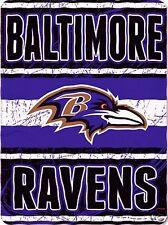 Baltimore Ravens blanket bedding 66x90 XXL FREE SHIPPING NFL Ravens throw