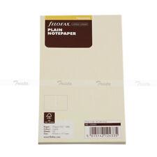 Filofax Book Personal Size Cotton Cream Plain Notepaper Refill Insert 132453