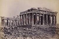 Grecia il Partenone Atene Foto Albume D'Uovo 9x12, 5cm Ca 1880