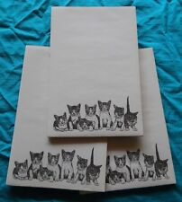 Kitty Litter Notepad 50 Sheets 8.5 x 5.5 New Black and White Drawing - 3 pads