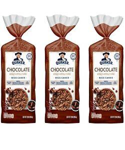 3 per order  Quaker Rice Cakes, Whole Grain Chocolate, 7.23 Oz EACH