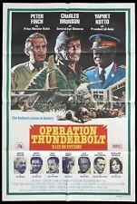 OPERATION THUNDERBOLT Original One sheet Movie Poster Peter Finch Idi Amin