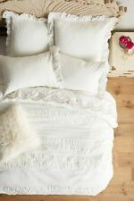 NWOT Anthropologie Toulouse Duvet Cover White Queen
