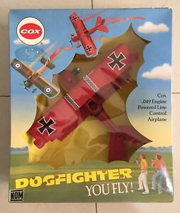 Cox Fokker Triplane Dogfight line control .049