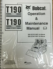 Bobcat T190 Track Loader Operation & Maintenance Manual Owner's Book 1 # 6901109
