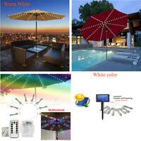 LED Solar Parasol Umbrella Lights Cordless Lighting String Light Patio Outdoor
