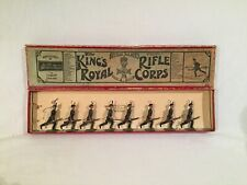 Britains Toy Soldiers, Set 98, 'King'S Royal Rifle Corps' in Original Box 1920's