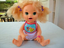 2014 Hasbro Baby Alive 15 Blonde Snackin Sarah Interactive English/Spanish