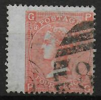 SG94.  4d.Vermilion Plate 8.  Fine-V.Fine Used.  Cat.£80.  Ref:0710