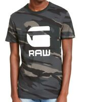 G-Star Raw Mens T-Shirt Dark Green Size Small S Graphic Logo Camo Tee $35 #091