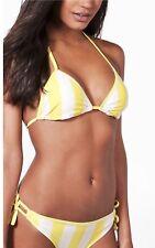fb1e678f1f NEW Size 6 BooHoo Beach Swimwear Paris Yellow & White Triangle Bikini Set