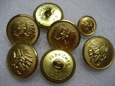 .Vintage Uniform Buttons Austria lot of 7,gold color