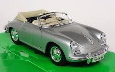 Porsche 356 B Cabriolet Noir - Welly 29390 1/24e