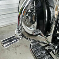 Chrome Highway Foot Pegs Pedals Footrest Crash Bar For Harley Touring Motorcycle