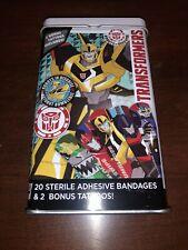 Transformers Metal 20 Bandage 2 Tattoo Tin Bumblebee robot Rare nice  NEW