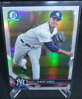 2018 Bowman Chrome Prospects Albert Abreu Card #126 Refractor New York Yankees