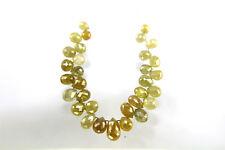 8.11Cts / 32Pcs Beautiful Sparkling Yellow Color Diamond Briolette Lot