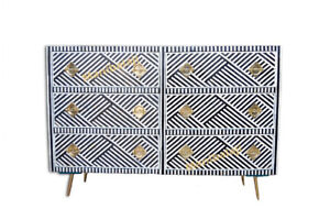 Bone inlay chest of drawers 6 drawer inlay dresser with insurance home decor
