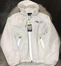 NWT Les Korman Classic CBX Cloud White Hooded Windbreaker Zip Up Jacket Sz XXL