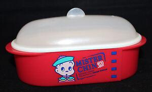 Mr Donut Doughnuts Japanese Lunch Box Steamer Red Mister Chin Osamu Harada Rare