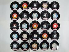 45 rpm 25 Record Lot 80's COUNTRY, HONKY TONK, ROCKABILLY Cash, Nelson, Jennings