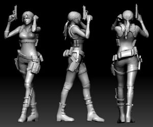 35 mm Jill Valentine Resident Evil fanart Miniature for Zombicide|DnD|D&D