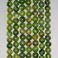 "6MM OLIVE JADE GEMSTONE OLIVE GREEN ROUND LOOSE BEADS 15.5"""