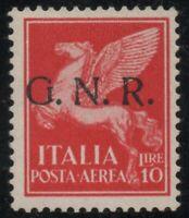 ITALIA RSI 1944 POSTA AEREA GNR LIRE 10 MLH* GUGLIELMO OLIVA