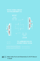 K4 S Decals West India Fruit and Steamship 40 Ft Boxcar White