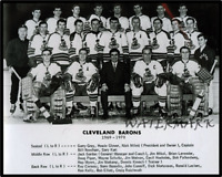 1969 - 70 AHL Cleveland Barons Black & White Team Photo 8 X 10 Photo Picture