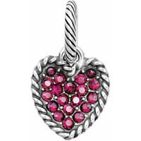 NEW Brighton SCOOP OF LOVE Pink Swarovski Crystals HEART Charm