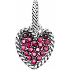 NEW Brighton SCOOP OF LOVE Pink Swarovski Crystals HEART Charm