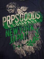 PRPS GOODS NAVY Men 2XL ( Extra Extra Large ) JAPAN NY T - Shirt $78+100% Cotton