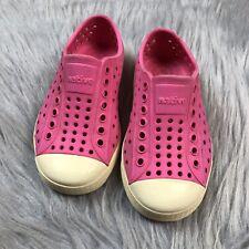 Native Jefferson Toddler Girls Childrens Pink Outdoor Summer Shoes Sz 8