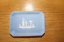 Vintage Wedgwood Pale Blue Jasper Ware Square Pin Tray