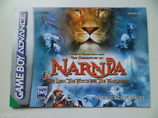 NINTENDO GAMEBOY ADVANCE NARNIA THE LION WITCH AND THE WARDROBE MANUAL
