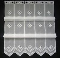 Clip Panneaux Scheibengardine Gardine Scheibenhänger Raffrollo weiß B=0,31-1,26