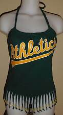 Womens Oakland Athletics  Reconstructed A's MLB Baseball Shirt Halter Top DiY