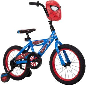 "16"" Kids Bike Bicycle Boys Sidewalk Training Wheels Child Marvel Spider Man 4-6"