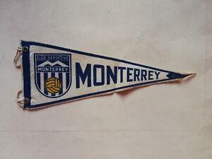 Vintage Mexican MONTERREY RAYADOS SOCCER FUTBOL liga mx pennant Flag from 60's