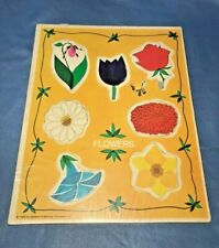 Vtg 1969 Flowers Puzzle Western Publishing Company 8x10 Tray Puzzle 7 Pieces