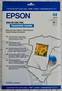 Epson Cool Peel Iron-On Transfer Paper (Pack of 10 sheets) S041154 C13S041154