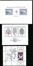 LOT 81687 MINT NH THREE SOUVENIR SHEETS FROM 1998 CZECHOSLOVAKIA