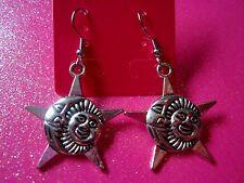 Sun & Moon Dangle Earrings