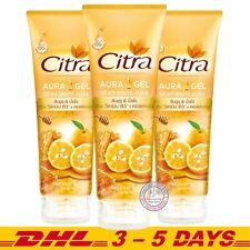 Citra Dewy White Aura Yuzu Orange and Honey Gel Hand and Body Care 180ml x 3