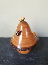 RARE Vintage Retro 60's Wood Treen Mice On Mushroom/Toadstool