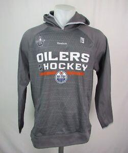 Edmonton Oilers Men's Gray Speedwick Playoff Hoodie NHL Reebok
