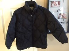 Eddie Bauer Goose Down Puffer Black Jacket Womens S/P Coat Winter Full Zip